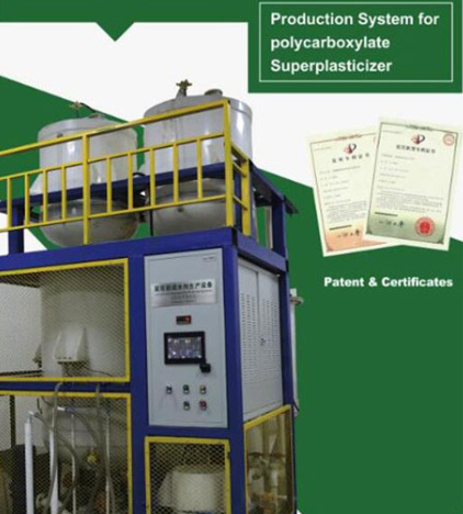 Production System For Polycarboxylate Superplasticizer